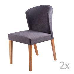 Sada 2 tmavě šedých jídelních židlí sømcasa Alina