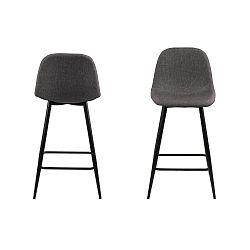 Sada 2 tmavě šedých židlí Actona Wilma