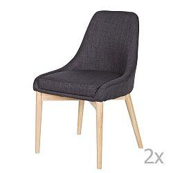 Sada 2 tmavě šedých židlí De Eekhoorn Kobe
