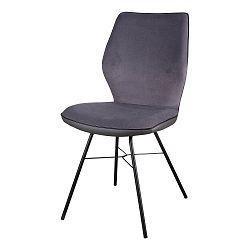 Sada 2 tmavě šedých židlí sømcasa Erika