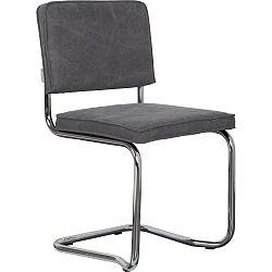 Sada 2 tmavě šedých židlí Zuiver Ridge Rib Kink Vintage