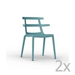 Sada 2 tyrkysových zahradních židlí Resol Tokyo