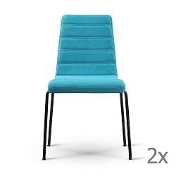 Sada 2 tyrkysových židlí s černýma nohama Garageeight