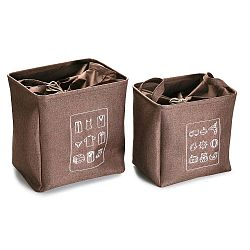 Sada 2 úložných košíků Versa Chocolate