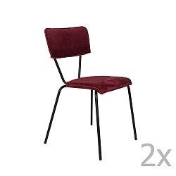 Sada 2 vínově červených židlí Dutchbone Melonie