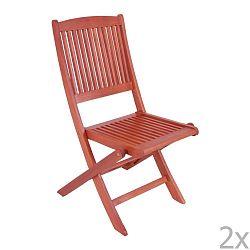 Sada 2 zahradních skládacích židlí z eukalyptového dřeva ADDU Stockholm