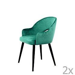Sada 2 zelených jídelních židlí 360 Living Veit