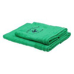 Sada 2 zelených ručníků Beverly Hills Polo Club Tommy Orj