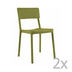 Sada 2 zelených zahradních židlí Resol Lisboa