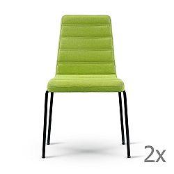 Sada 2 zelených židlí s černýma nohama Garageeight