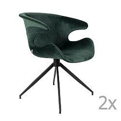 Sada 2 zelených židlí s područkami Zuiver Mia