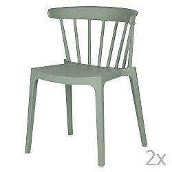 Sada 2 zelených židlí WOOOD Bliss