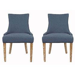 Sada 2 židlí Lester Blue