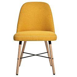 Sada 2 žlutých jídelních židlí Marckeric Cancun