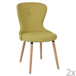 Sada 2 žlutých jídelních židlí RGE Boogie