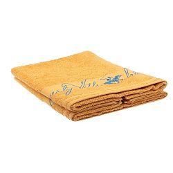 Sada 2 žlutých ručníků Beverly Hills Polo Club Tommy Yazi, 50x100cm