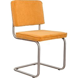 Sada 2 žlutých židlí Zuiver Ridge Brushed Rib