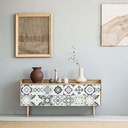 Sada 24 samolepek na nábytek Ambiance Tiles Stickers For Furniture Belinda, 20 x 20 cm