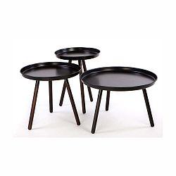 Sada 3 černých odkládacích stolků Nørdifra Sticks