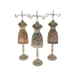 Sada 3 dřevěných stojanů na šperky Antic Line Rasso