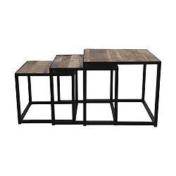 Sada 3 konferenčních stolků z mangového dřeva HSM collection Dalai