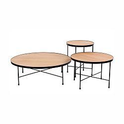 Sada 3 konferenčních stolků ze dřeva a oceli Nørdifra Tre