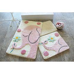 Sada 3 koupelnových předložek Alessia Buyuk Fil Pink