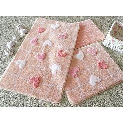 Sada 3 koupelnových předložek Alessia Kalbim Pink
