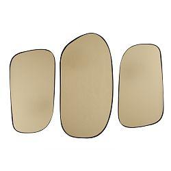Sada 3 nástěnných zrcadel ve zlaté barvě PT LIVING Concord
