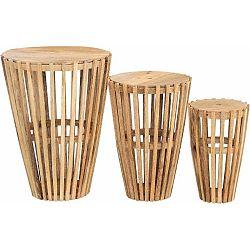 Sada 3 příručních stolků z mangového dřeva Støraa Sitka