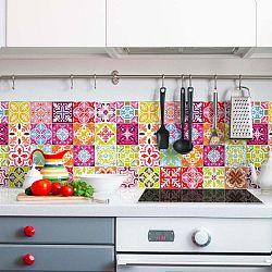 Sada 30 nástěnných samolepek Ambiance Wall Stickers Cement Tiles Heloisa, 15 x 15 cm