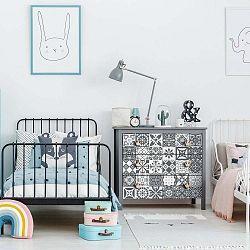 Sada 30 samolepek na nábytek Ambiance Tiles Stickers For Furniture Pasqualine, 20 x 20 cm