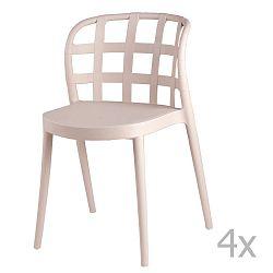 Sada 4 béžových jídelních židlí sømcasa Gina
