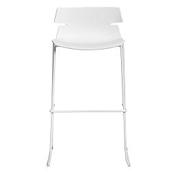 Sada 4 bílých barových židlí Marckeric Doris