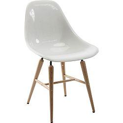 Sada 4 bílých jídelních židlí Kare Design Forum Wood