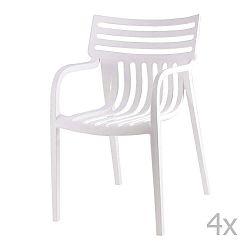 Sada 4 bílých jídelních židlí sømcasa Rodie