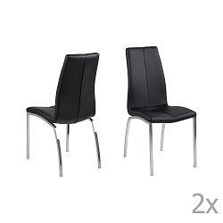 Sada 4 černých jídelních židlí Actona Asama