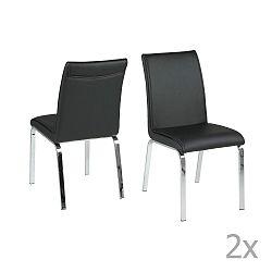 Sada 4 černých jídelních židlí Actona Leonora