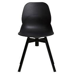 Sada 4 černých jídelních židlí Marckeric Alice