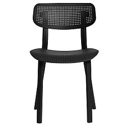 Sada 4 černých jídelních židlí Marckeric Eleni