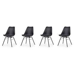 Sada 4 černých jídelních židlí Tenzo Brad