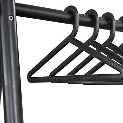 Sada 4 černých ramínek k věšáku Karup Design Hongi Black