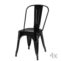 Sada 4 černých židlí Knuds Korona