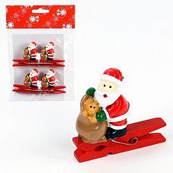 Sada 4 kolíčků s vánočním motivem Unimasa Santa Claus