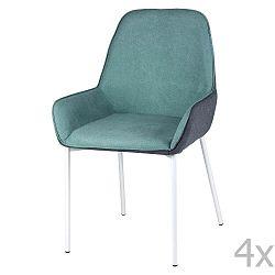 Sada 4 mátově zelených jídelních židlí sømcasa Martina