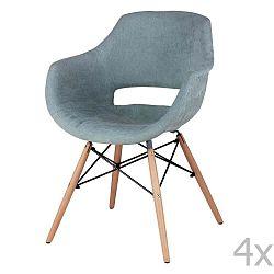 Sada 4 mátově zelených jídelních židlí sømcasa Nadine
