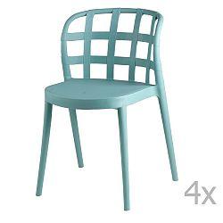Sada 4 mentolových jídelních židlí sømcasa Gina