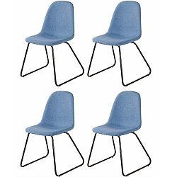 Sada 4 modrých jídelních židlí Støraa Colombo
