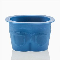 Sada 4 modrých silikonových formiček na muffiny ve tvaru kalhot InnovaGoods