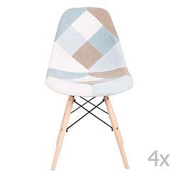 Sada 4 modrých židlí sømcasa Karen